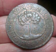 1833 -TF (HONDURAS) 2 REALES--(VERY SCARCE) -----Provisional Coinage------