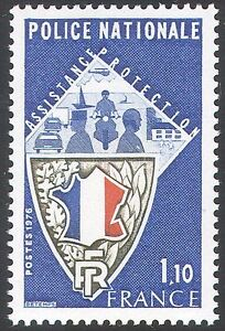 France 1976 Police/Motorbike/Motorcycle/Cars/Helicopter/Transport 1v (n23234)
