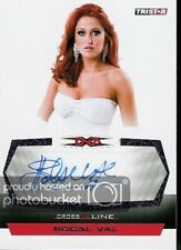 SOCAL VAL - 2008 Tristar TNA Cross the Line PURPLE AUTOGRAPH #1 of 1 made wos