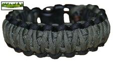 550 PARACORD BUSHCRAFT BRACELET KIT - OG & Black