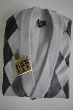 MONTE CARLO Strickjacke NOS Karo True Vintage 70er grau cardigan 70s grey square