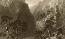 HAUTES-ALPES. Pass of the Guill, between Mount Dauphin & Queyras. BARTLETT 1838