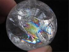 76g  NATURAL rainbow  CRYSTAL QUARTZ CLEAR SPHERE BALL *