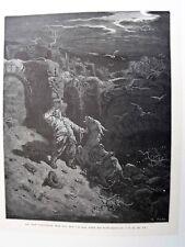 86-7-98 Gravure sur bois 1863 Don Quichotte de Gustave Doré par Pisan