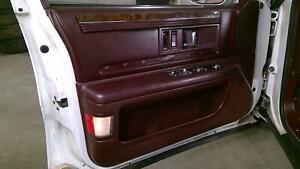 92-96 Buick Roadmaster Driver Left Front Interor Door Trim Panel (Ruby Red 79i)