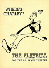 WHERE'S CHARLIE PLAYBILL ~ ST. JAMES THEATRE THEATRE - 1948