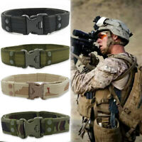 Fashion Sports Men Canvas Waistband Belt Tactical Military Army Training Outdoor