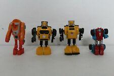 Transformers G1 Minibot lot incomplete Bumblebee Bumblejumper Wheelie Gears 1984