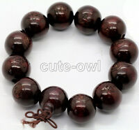 AAA 18mm Wood Beads Tibet Buddhist Prayer Bracelet Mala Buddha