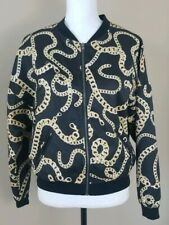 H&M Divided Black And Gold Chain Zip Jacket Size XS/S (347)