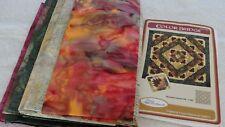 """COLOR BRIDGE Quilt Kit Batik Fabrics Elisa's Backporch 66x66"""""""