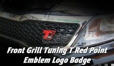 Front Grill Turbo GDi Red Point Emblem Logo Badge for KIA 2011 - 2015 Optima K5