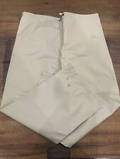 ORVIS Men's Nylon Waterproof GORE-TEX Rain Pants Drawstring Waist Snap Bottom