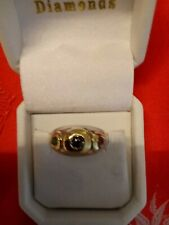Enchanting 14 Kt. Yellow Gold- Sterling Ruby, Sapphire- Emerald Contempory Dome