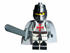 TEMPLAR KNIGHT WITH SWORD, HELMET AND CAPE, CASTLE FANTASY MINIFIGURE