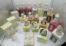 Lot of 20 Precious Moments Ornaments 80s and 90s with boxes