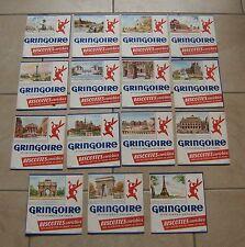 15 anciens buvards - biscottes GRINGOIRE ( non numérotés ) - 50's