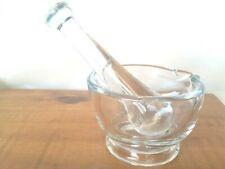 GLASS MORTAR  AND PESTLE