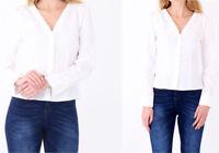 New Women Relaxed Elegant V-Neck Long Sleeve Barrel Cuff Blouse UK 8-16