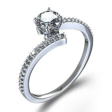 Women's 1.14 Ct 14K White Gold Over Round Diamond Solitaire Engagement Ring