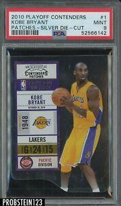 2010 Playoff Contenders Silver Die-Cut #1 Kobe Bryant Lakers HOF /299 PSA 9 MINT