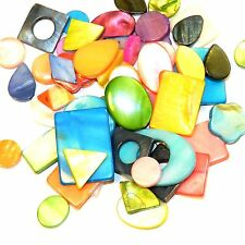 MP9910 Mixed Size Shape Color 10-31mm Mother of Pearl Shell 60gm (45-50 Beads)