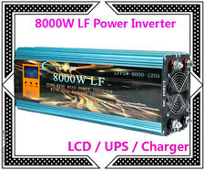 "32000W/8000W LF Pure Sine Wave Power Inverter 12V DC/230V AC 3.5""LCD/UPS/Charger"