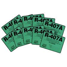 Pack of (10) - R-407A / R407A HFC-32 HFC-125  HFC-134a Refrigerant Label # 79511