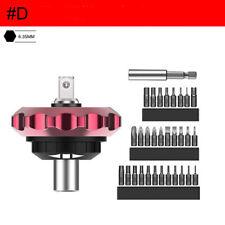 """Magnetic Finger Ratchet Bit Screwdriver 1/4"""" Alloy Thumb Socket 25mm Head set #D"""