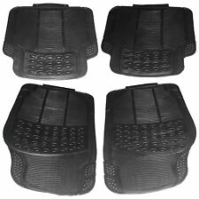 4 Pce Super Heavy Duty Front Rear Waterproof Black Rubber Nissan Car Floor Mats