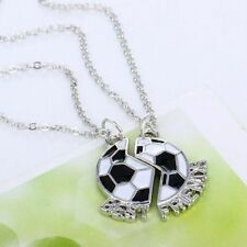 Friendship Set Soccer Chain Pendant BEST FRIENDS Jewelry Necklace Football