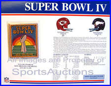 SUPER BOWL 4 Chiefs / Vikings 1970 Willabee & Ward OFFICIAL SB IV NFL PATCH CARD