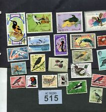 Lot  stamps  of birds