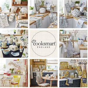 COOKSMART Tea Cosy or Double/Single Oven Glove Gauntlet or Apron or Tea Towels