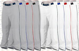 Rawlings Plated Piped Pro150 Premium Baseball Pants Open Bottom Adult Men's NEW
