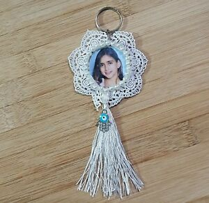 gift bead Decoration hanging lace Round Pearl White silver picture