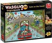 Wasgij Original 33 CALM ON THE CANAL 1000 Piece Jigsaw Puzzle River Boat 19173