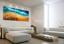 Blue Orange Wavy Wall Art Metal Print Decor Ready to Hang