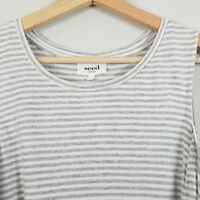 [ SEED HERITAGE ]  Womens Striped cut out shoulder Top | Size L or AU 14