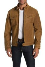 $648 Frye Military Leather Suede Jacket Size L