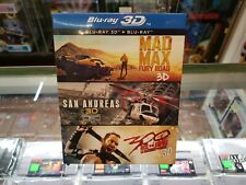 Blu Ray 3D - Starter Pack (San Andreas, Mad Max Fury Road, 300) - SEALED