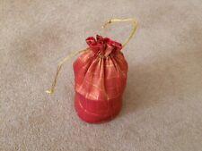 5 rouge/or cordon Organza Cadeau Mariage Fête Bijoux Grand Sac Pochette H12