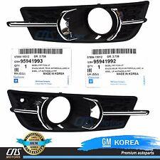 GENUINE Fog Light Cover Set Bezel 11-14 GM Chevrolet Cruze OEM 95980706 95980707