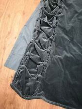 Anthropologie Velvet Parlor Curtain Panels 50 x 84 Ruched Edges Solid Teal Lined