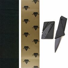"Black Diamond Skateboard Grip Tape Sheet 9"" x 33"" With Griptape Cutter Knife"