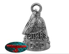Biker Motorrad Guardian Bell Glocke Glücksbringer - BIKER DAD Anhänger Keychain
