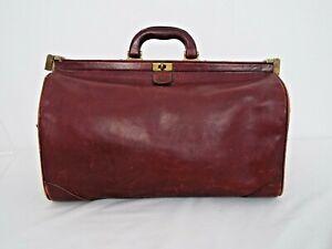 Etienne Aigner vintage Doctors bag oxblood leather