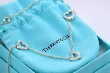 """Tiffany & Co Plata Elsa Peretti Pequeño Triple 3 Corazón Abierto Charm 16"""""""