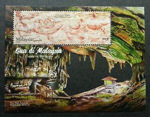 *FREE SHIP Malaysia Caves 2019 Painting Sarawak Tourism MS MNH *die cut *unusual