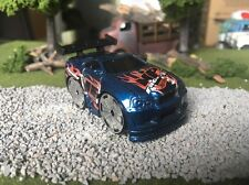 Hot Wheels CUSTOM WHEEL SWAP Blue Out-A-Line Out A Line (Nissan Skyline) Blings